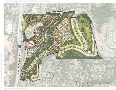 Oak Knoll site plan in Oakland, California Courtesy of SunCal